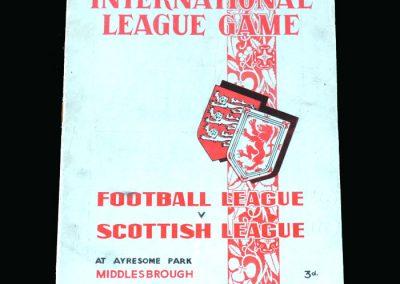 Football League v Scottish League 22.03.1950