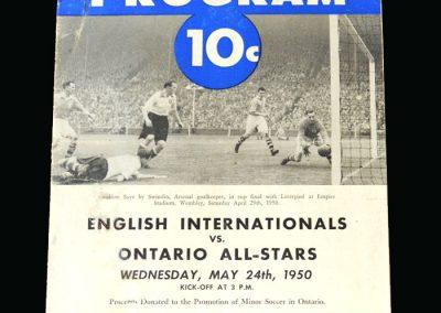 England B v Ontario 24.05.1950