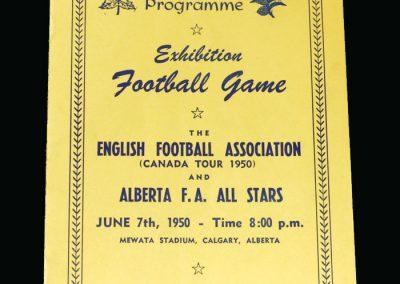 England B v Alberta 07.06.1950