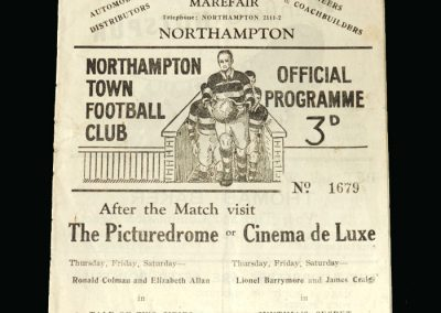 Notts County v Northampton 15.11.1947 (Lawton Debut - England centre forward signs for 3rd Division Notts County)