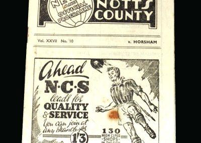 Notts County v Horsham 29.11.1947 (FA Cup 1st Round)