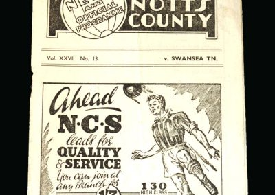 Notts County v Swansea 26.12.1947
