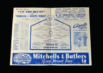 Notts County v Birmingham 10.01.1948