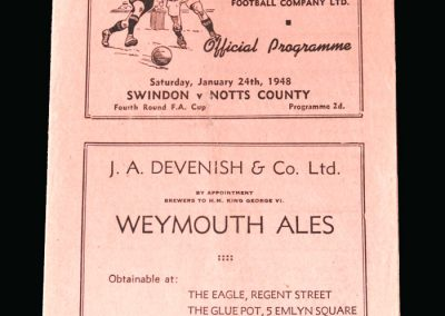 Notts County v Swindon 24.01.1948 (FA Cup 4th Round)