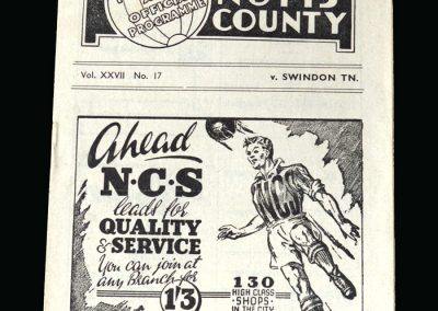 Notts County v Swindon 06.03.1948