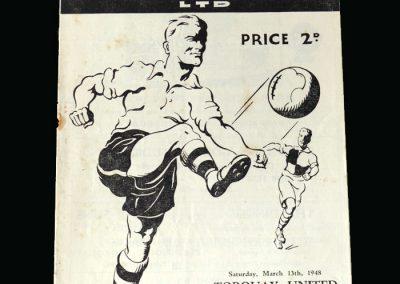 Notts County v Torquay United 13.03.1948