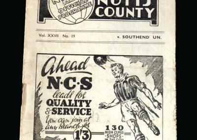 Notts County v Southend 26.03.1948