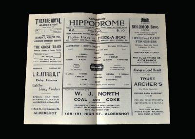 Notts County v Aldershot 27.03.1948
