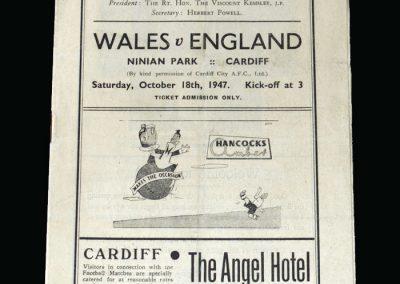 Wales v England 18.10.1947