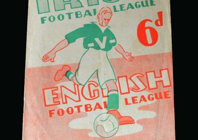 Northern Irish League v English League 22.10.1947