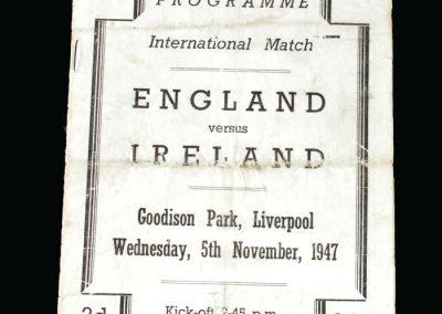 England v Ireland 05.11.1947