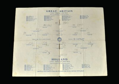 Great Britain v Holland 31.07.1948 (Olympics) Matt Busby Managed the amateur Olympic team.