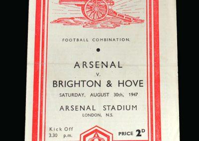 Arsenal v Brighton 30.08.1947