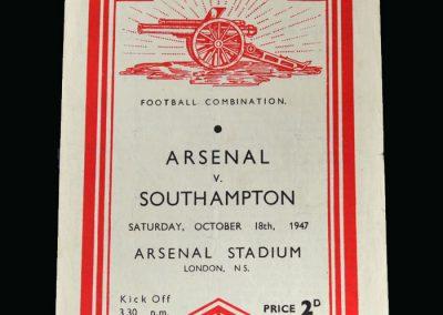 Arsenal v Southampton 18.10.1947