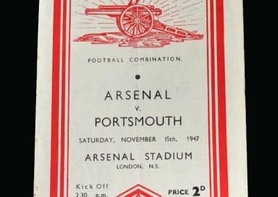 Arsenal v Portsmouth 15.11.1947