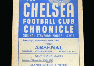 Arsenal v Chelsea 22.11.1947