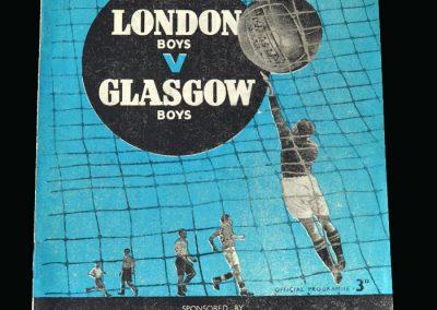 London Boys v Glasgow Boys 29.11.1947
