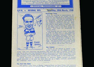 Arsenal v QPR 20.03.1948