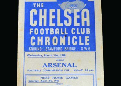Arsenal v Chelsea 31.03.1948
