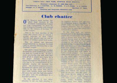 Arsenal v Reading 24.04.1948