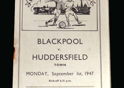 Blackpool v Huddersfield 01.09.1947