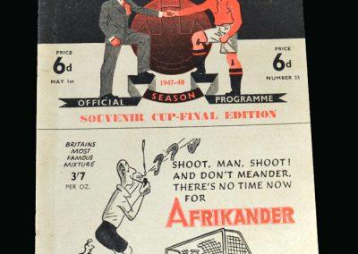 Man Utd v Blackburn 01.05.1948 (FA Cup Final Souvenir)