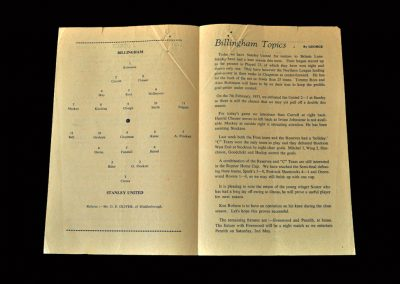 Billingham Synthonia v Stanley 25.04.1953 (£1 a game as an amateur)
