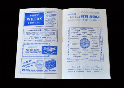 Blackburn v Middlesbrough 24.11.1956