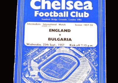 England v Bulgaria 25.09.1957 (Under 23)