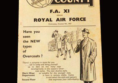 FA 11 v RAF 09.10.1957