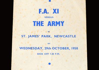 FA 11 v The Army 29.10.1958