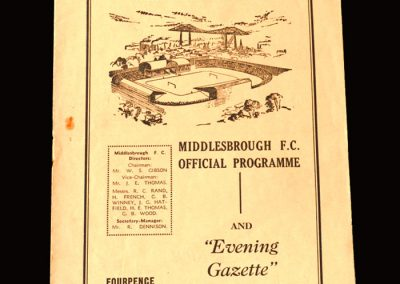 Middlesbrough v Plymouth 05.09.1959 (Four Goals for Clough)