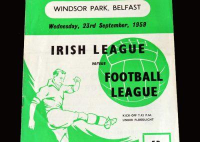 Irish League v English League 23.09.1959 (Clough scores all 5 goals for the English)