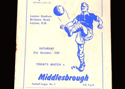 """Orient v Middlesbrough 31.10.1959 (Another 0-5 & much confrontation with """"his"""" defence)"""