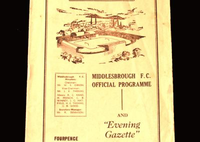 Middlesbrough v Stoke 25.03.1961 (1 Goal)