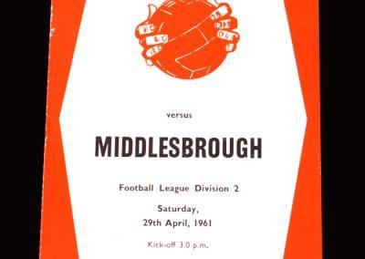 Sheff Utd v Middlesbrough 29.04.1961 (Last game for Boro)