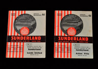 Sunderland v Leeds 05.09.1964 (Cloughs last goal) | Sunderland v Aston Villa 09.09.1964 (Clough's last game)