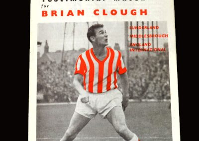 Sunderland v Newcastle 27.10.1965 (Testimonial Match - By then he had already made his start into management)