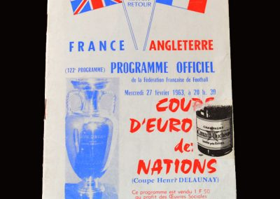 France v England 27.02.1963 (Watching Brief)