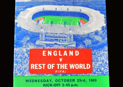 England v The Rest of the World 23.10.1963