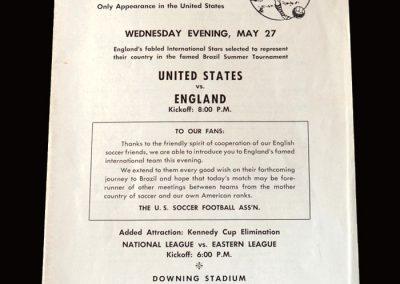 USA v England 27.05.1964