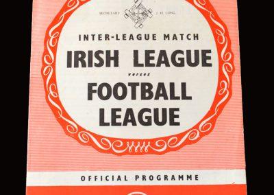 Irish League v Football League 28.10.1964