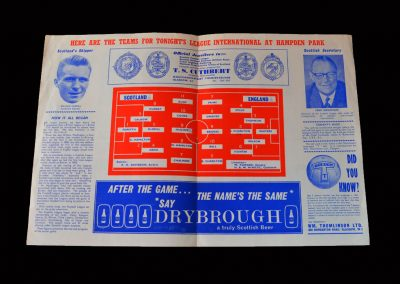 English League v Scottish League 17.03.1965 (Ball, Stiles & Jack Charlton come in)