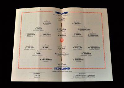England v Scotland 10.04.1965