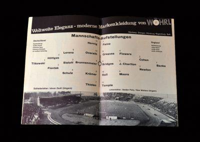 West Germany v England 12.05.1965