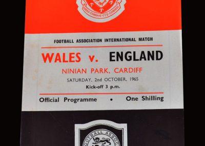 Wales v England 02.10.1965