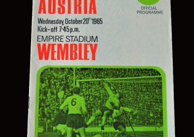 England v Austria 20.10.1965