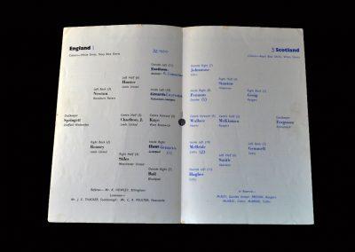 English League v Scottish League 16.03.1966
