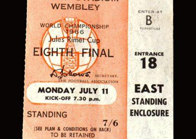 England v Uruguay 11.07.1966