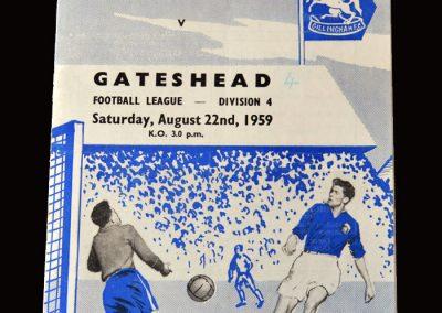 Gateshead v Gillingham 22.08.1959
